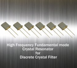 Read more about the article High-Frequency Fundamental Mode Crystal Resonator for Discrete Filter